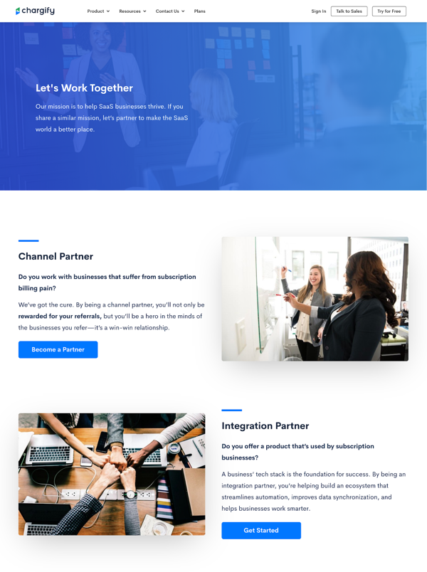 Chargify's integrations page